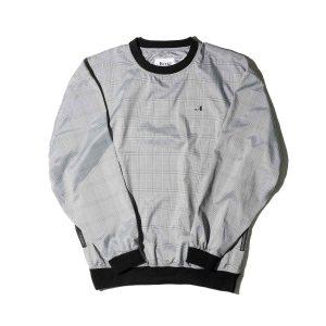 Awake Plaid Windbreaker Pullover Jacket Black