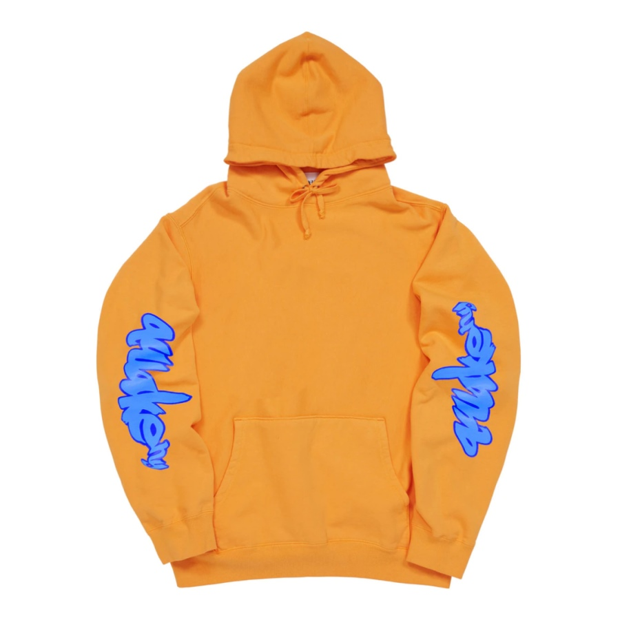 Awake Side Sleeve Logo Hoodie Orange