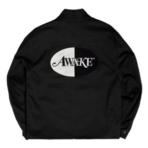 Awake Split Logo Harrington Patch Jacket Black 1