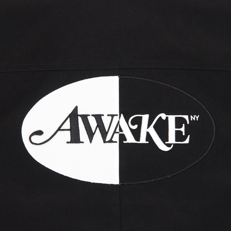 Awake Split Logo Harrington Patch Jacket Black 2