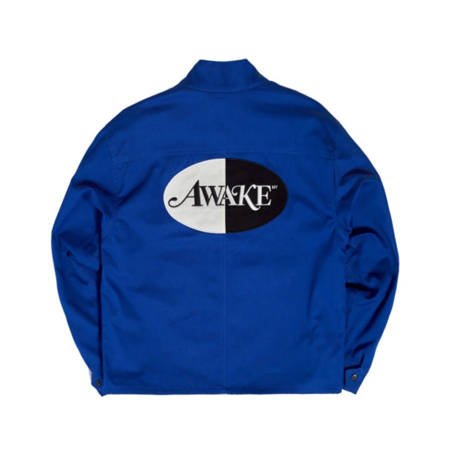 Awake Split Logo Harrington Patch Jacket Blue 1