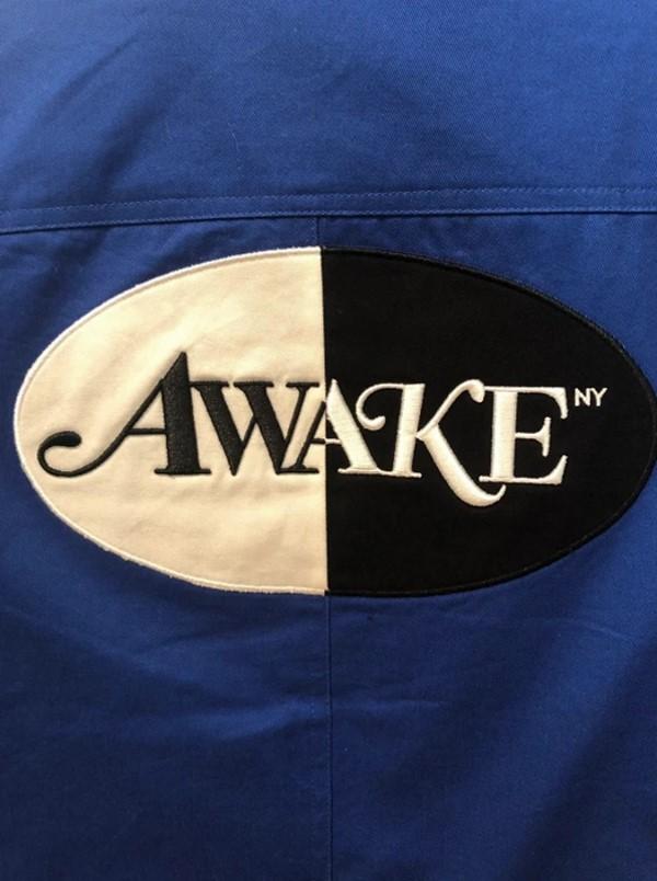 Awake Split Logo Harrington Patch Jacket Blue 2