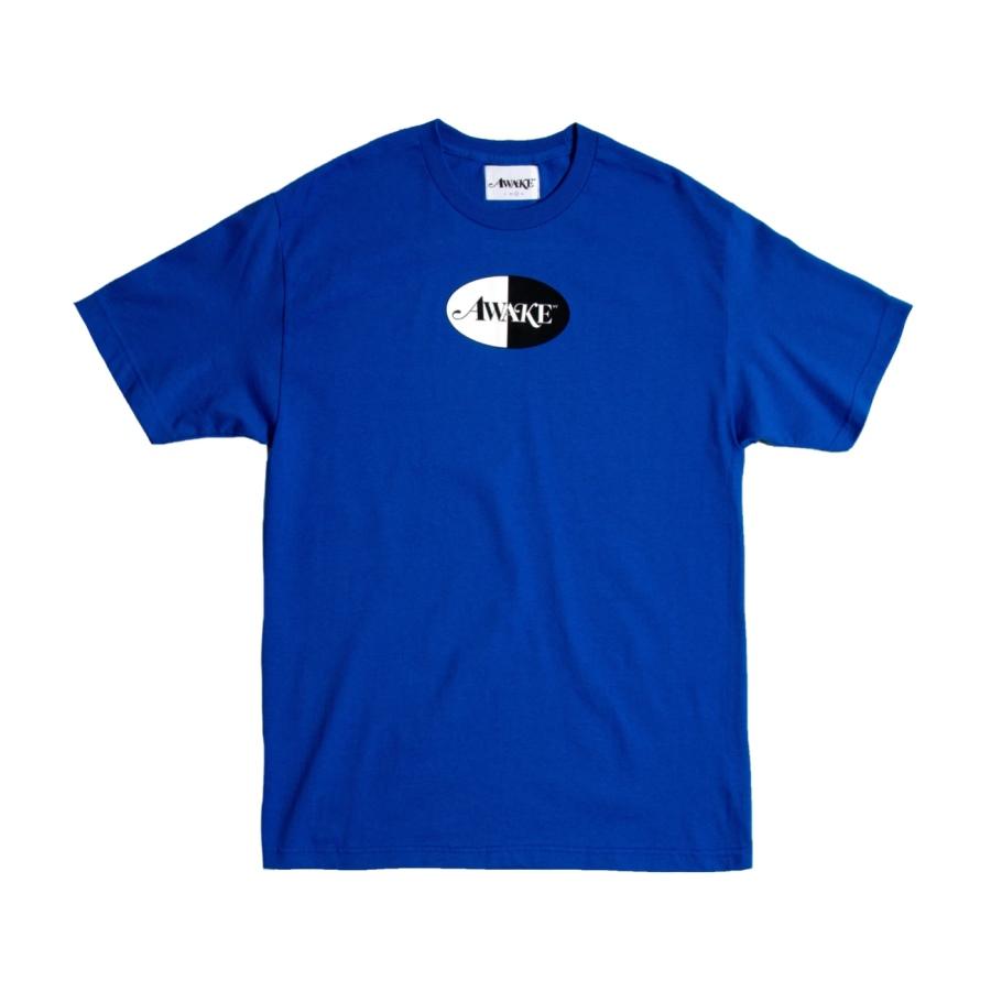 Awake Split Logo Tee Royal Blue
