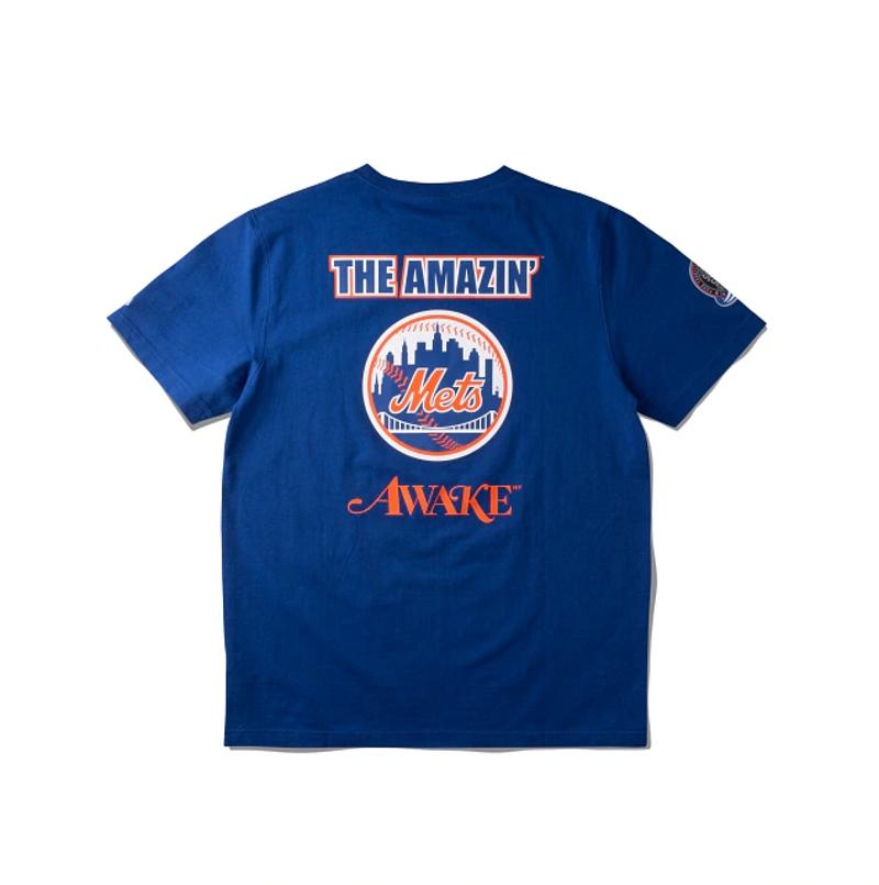 Awake Subway Series Mets T shirt Royal 1