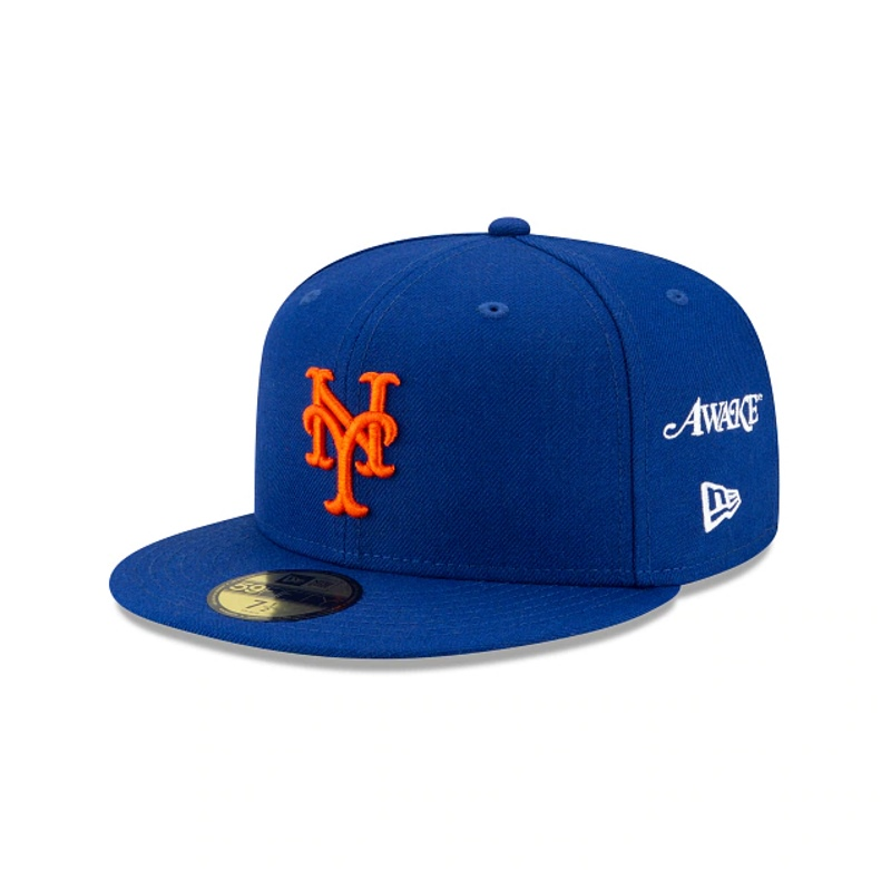 Awake Subway Series New York Mets New Era Fitted Cap Royal 1