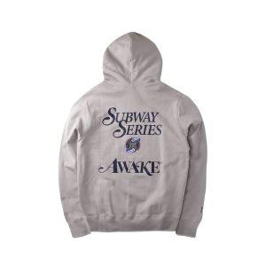 Awake Subway Series Yankees Hoodie Gray 1