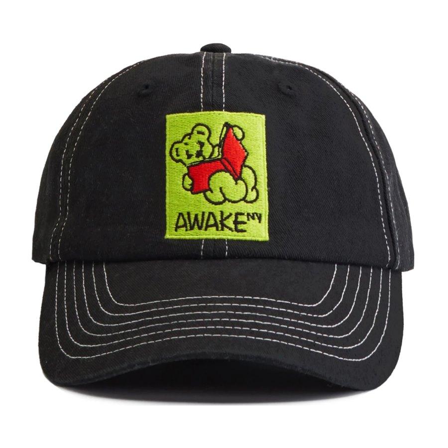 Awake Teddy Hat Black
