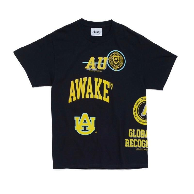 Awake University Tee Black