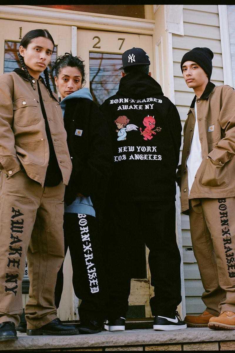 Awake x Born X Raised Carhartt WIP Chore Coat Black 2
