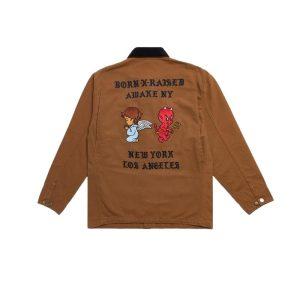 Awake x Born X Raised Carhartt WIP Chore Coat Brown 1.1