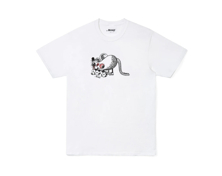 Awake x Dover Street Market Year of the Rat T Shirt White