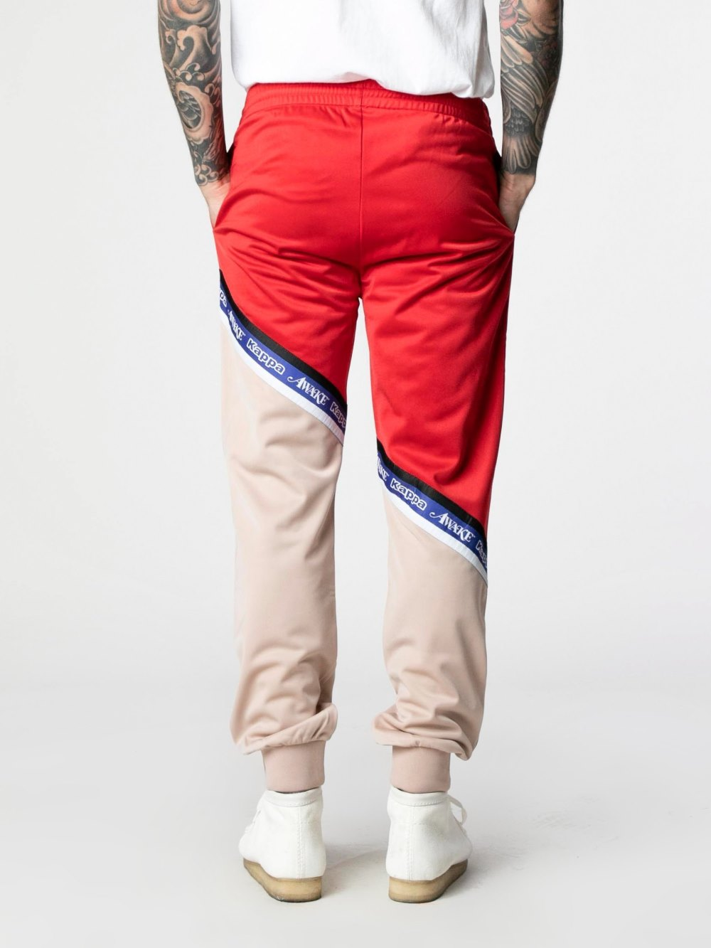 Awake x Kappa Eldred Track Pants PinkRed 4