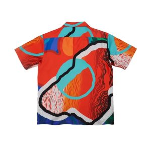 Awake x Sam Friedman Silk Camp Shirt Print 1