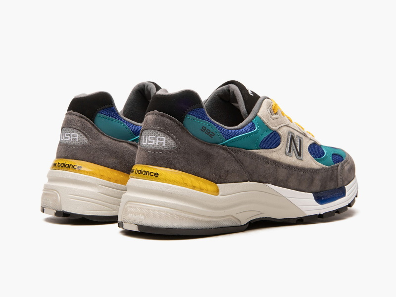 Billys x New Balance 992 Made in USA Grey Blue Teal 2