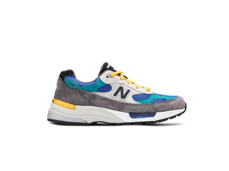 Billys x New Balance 992 Made in USA Grey Blue Teal