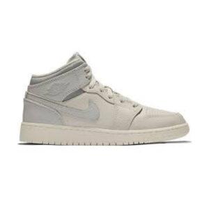 Jordan 1 Mid Light Bone Wolf Grey GS