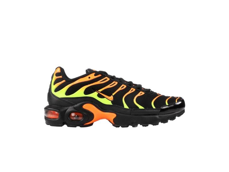 Nike Air Max Plus GS Black Volt Total Orange