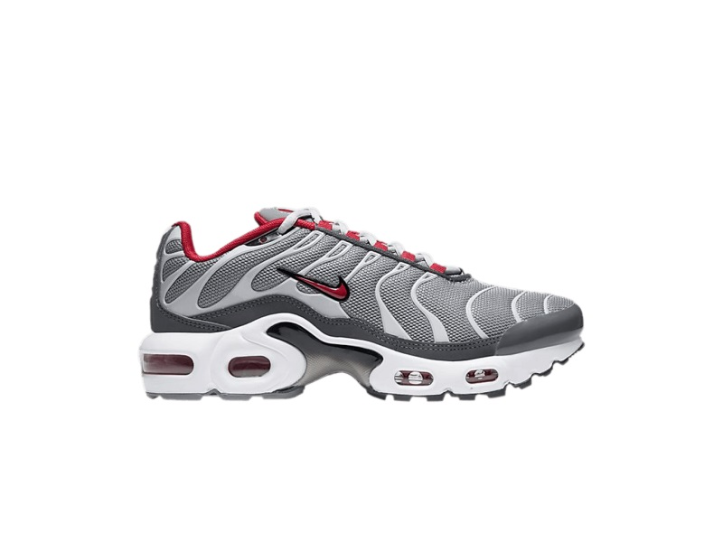 Nike Air Max Plus GS Particle Grey University Red