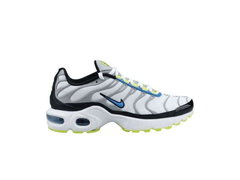 Nike Air Max Plus GS White Photo Blue Cyber
