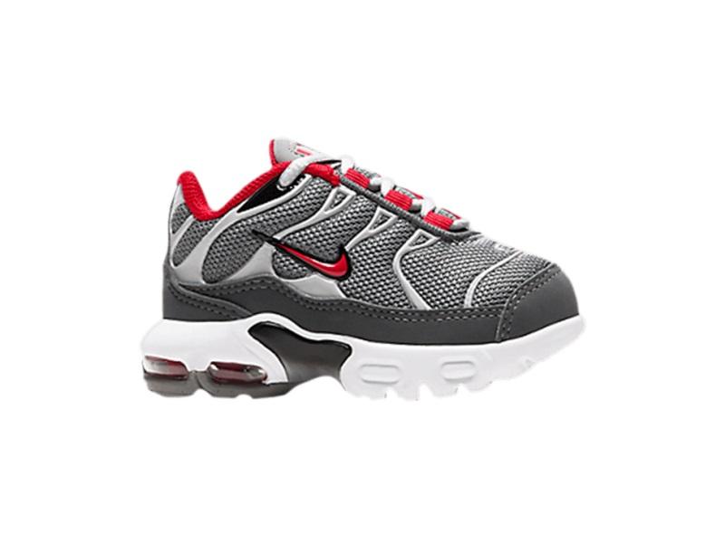 Nike Air Max Plus TD Particle Grey University Red