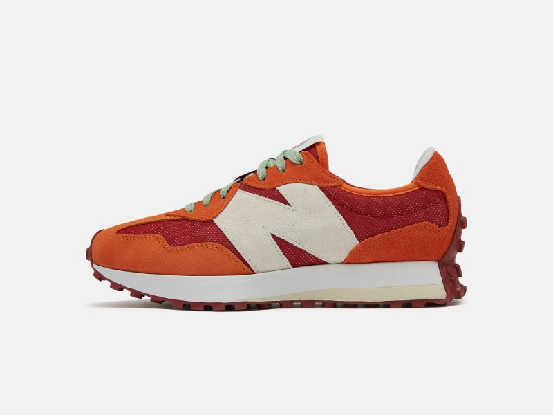 Todd Snyder x New Balance 327 Farmers Market Pack Pomegranate 1