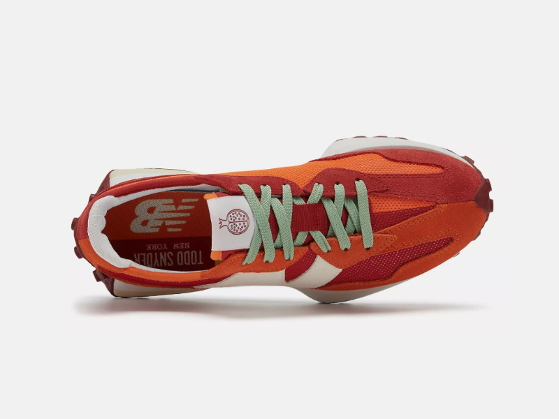 Todd Snyder x New Balance 327 Farmers Market Pack Pomegranate 3
