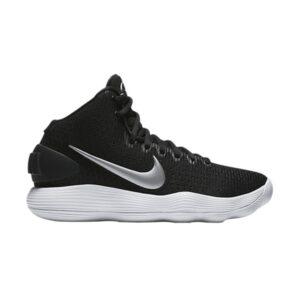 Wmns Nike Hyperdunk 2017 Black White Metallic Silver