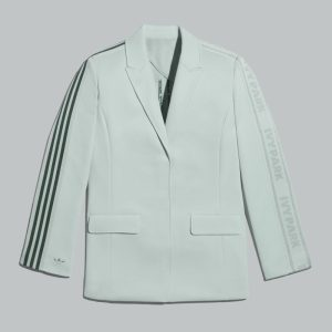 adidas Ivy Park 3 Stripes Suit Jacket Plus Size Green Tint