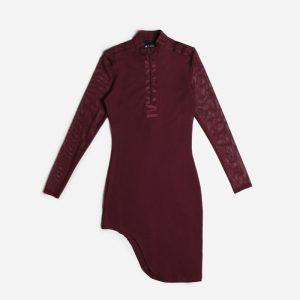 adidas Ivy Park Asymmetrical Dress Maroon