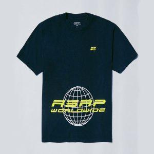 AAP Worldwide Globe 2 T shirt Black