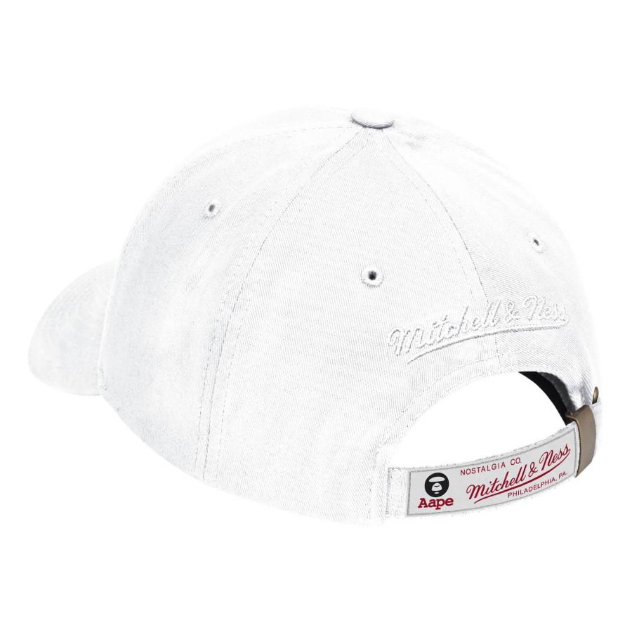 Aape x Mitchell Ness Golden State Warriors Strapback Hat White 1