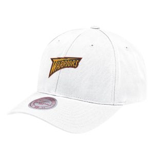Aape x Mitchell Ness Golden State Warriors Strapback Hat White