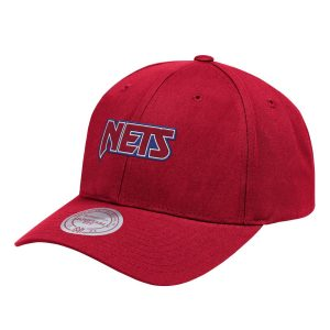 Aape x Mitchell Ness New Jersey Nets Strapback Hat Red
