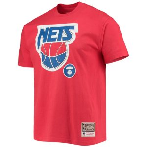 Aape x Mitchell Ness New Jersey Nets Tee Red