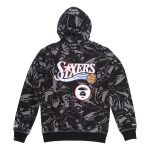 Aape x Mitchell Ness Philadelphia 76ers Hoodie Black 1