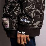 Aape x Mitchell Ness Philadelphia 76ers Hoodie Black 8