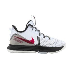 Nike LeBron Witness 5 GS Grey Fireberry