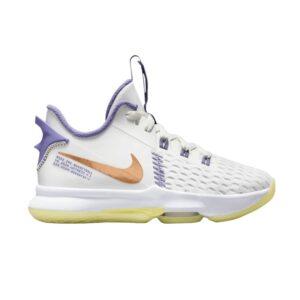 Nike LeBron Witness 5 GS White Light Zitron