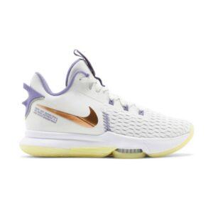 Nike LeBron Witness 5 Summit White Metallic Bronze