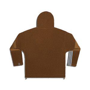 adidas Ivy Park 12 Zip Branded Teddy Jacket All Gender Wild Brown 1