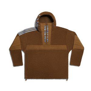 adidas Ivy Park 12 Zip Branded Teddy Jacket All Gender Wild Brown