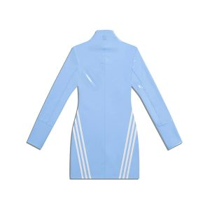 adidas Ivy Park 12 Zip Latex Dress Plus Size Light BlueWhite 1