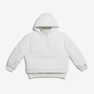adidas Ivy Park 12 Zip Sherpa Layered Jacket All Gender Core White