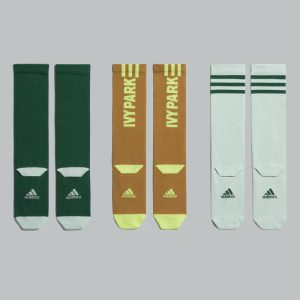 adidas Ivy Park 3 Pack Logo Socks Green TintYellow TintDark Green 1