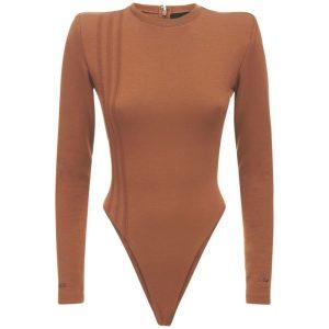 adidas Ivy Park 3 Stripes Bodysuit Plus Size Wild Brown